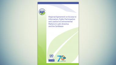 Cover of the Escazú Agreement