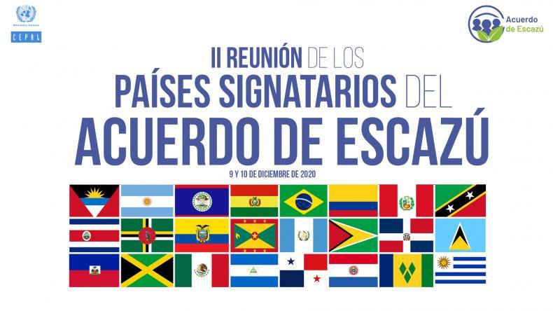 Banner anuncio segunda reunión signatarios Acuerdo de Escazú