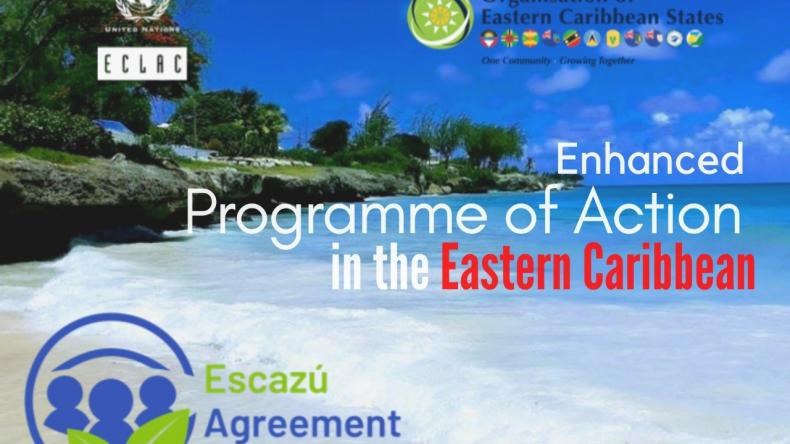 Banner Escazú Agreement MOU ECLAC-OECS English