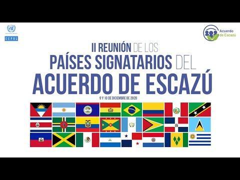 Embedded thumbnail for Segunda Reunión de los Países Signatarios del Acuerdo de Escazú - segunda jornada (10 diciembre)