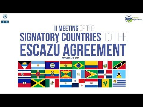 "Embedded thumbnail for Event ""Youth for Escazú"" (English translation) II Meeting signatory countries to Escazú agreement"