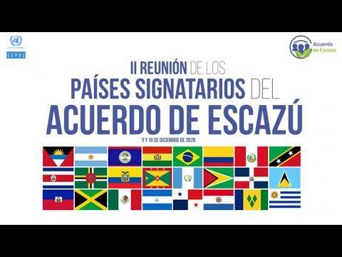 Embedded thumbnail for Segunda Reunión de los Países Signatarios del Acuerdo de Escazú - Primera jornada (9 diciembre 2020)